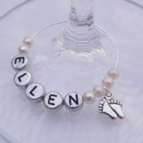 Baby Feet Wine Glass Charms